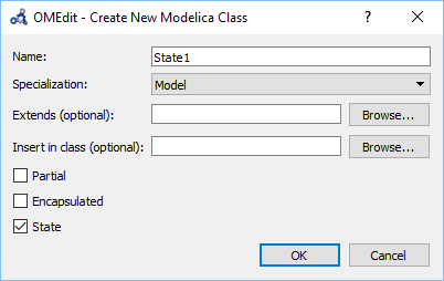 OMEdit – OpenModelica Connection Editor — OpenModelica User's Guide